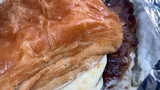 Wendy's NEW Breakfast Menu: Sausage, Egg & Swiss Croissant Review