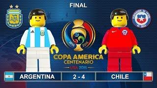 Copa America Final 2016 ( Argentina vs Chile 2-4 ) Film in Lego Football Highlights ( Centenario )
