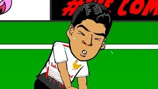 😢LUIS SUAREZ CRYING😪 by 442oons (Crystal Palace vs Liverpool 3-3 football cartoon)