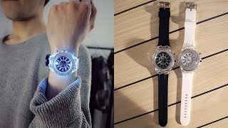 Silicone LED Luminous Outdoor Watch For Women