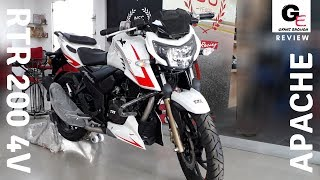 TVS Apache RTR 200 4V Race Edition 2.0 | white | detailed review | price | features | mileage !!!