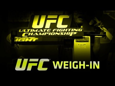 UFC on FUEL BARAO vs McDONALD WeighIn