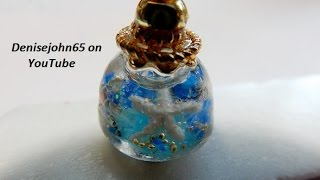 Make Snow Globes  .....SAVE & Use LATER---TUTORIAL---- make for friends , use for jewerly ! TUTORIAL