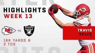 Travis Kelce's Double-TD Day vs. Raiders