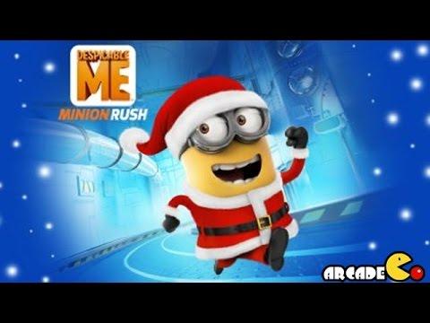 Despicable Me 2: Funny Minion Santa Run In Vector's Fortress video