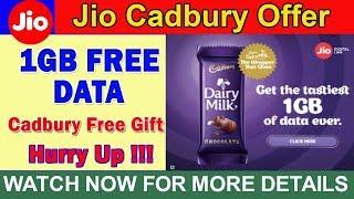 Jio Cadbury Dairy Milk Chocolate Offer  l Jio free 1GB Data Plan  l Jio new free data offer