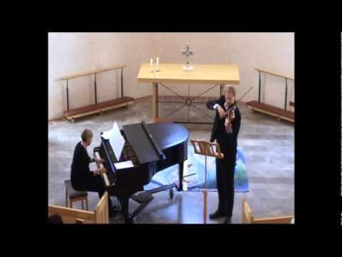 Holger Petersen performs Beau Soir by Debussy-Heifetz in S:ta Anna Helsingborg 2010