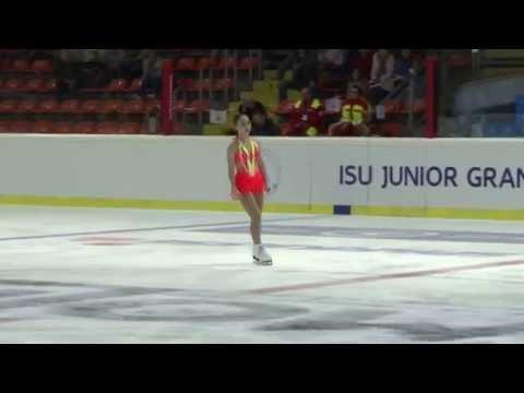 2015 ISU Jr. Grand Prix - Linz Ladies Short Program Wakaba HIGUCHI JPN