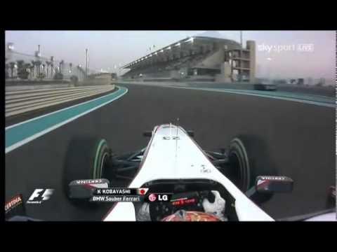 Kamui Kobayashi Onboard Abu Dhabi 2010