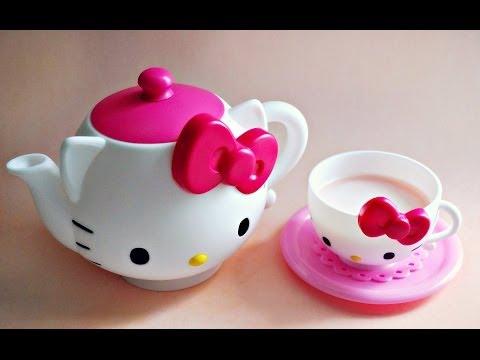 HELLO KITTY TEA SET & PINK HOT CHOCOLATE