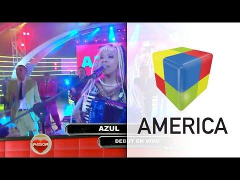 Azul Carrizo debutó en Pasión de Sábado con un show en vivo