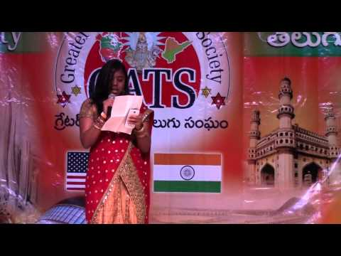 Swetha Sings Ninne Ninne Kora At Gats 2015 Sankranthi Sambaralu In St Mary's, Dallas video