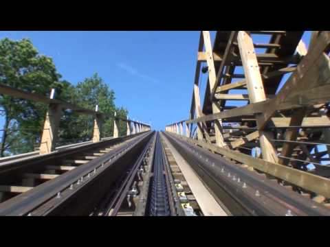 Joris en de Draak Wooden Roller Coaster POV Efteling Netherlands George and the Dragon