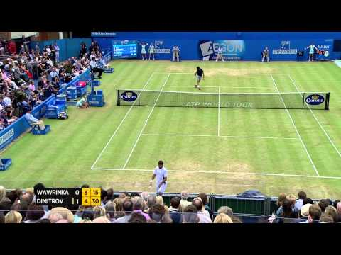 Stan Wawrinka vs. Grigor Dimitrov - Aegon Championships Day 6 match highlights