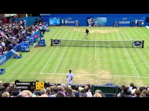 Stan Wawrinka vs. Grigor Dimitrov - Aegon Championships Day 6 match highlights