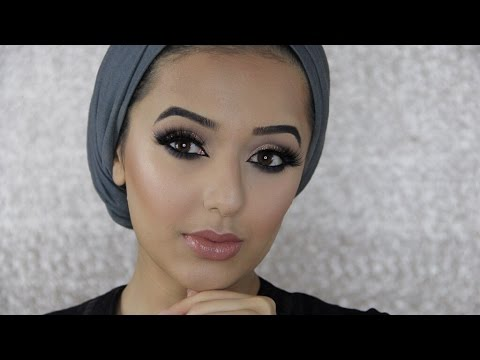 Glitter Cut Crease Eid Makeup Tutorial | Arabic Inspired