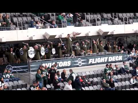 Ny Jets Aviators Drum Line Leading The Metlife Crowd In The Jungle Hippo And Dog E T S Chant video