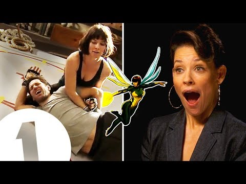 I did trap Paul Rudd in my crotch! Evangeline Lilly on The Wasp's kick-ass fighting style.