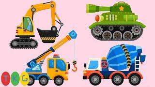 Lắp Ráp Xe Xúc Đất, Xe Cần Cẩu, Xe Trộn Bê Tông, Xe Tank | TopKidsGames (TKG)