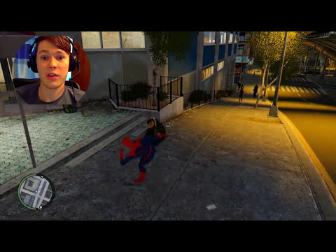 GTA 4 Amazing Spiderman Mod - Spiderman With REAL Powers