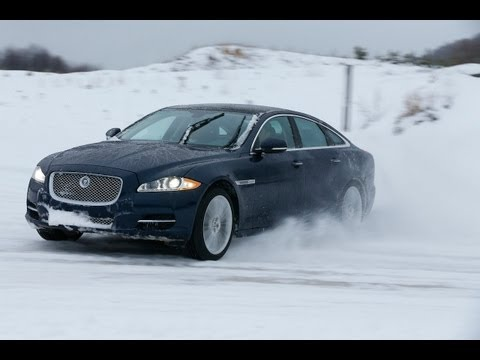 New Supercharged V6 Jaguar XF and XJ First Drive AWD Tech Demo and Review: 2013