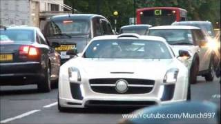 Arab Supercar Invasion London 2011- Agera R, Veyron SuperSports, SLS Gullstream, LP670-4 SV