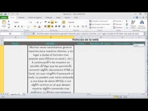 Exportar Excel De Sitio Web Con Php video