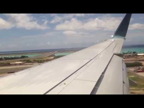 Alaska Airlines 737-800 landing in Honolulu (PHNL)
