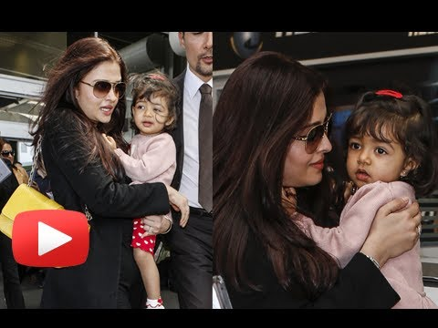 Aishwarya Rai Bachchan Lands In France - Cannes 2013 - Photos video