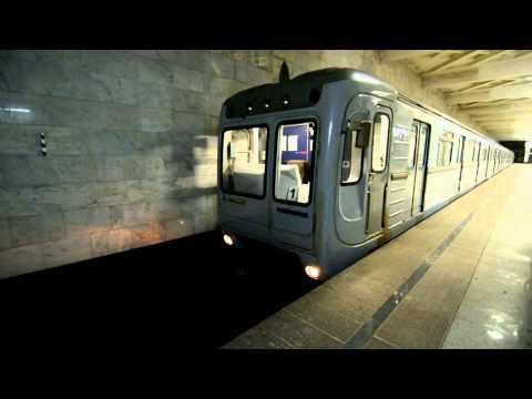 Поезд без машиниста в Казанском метро