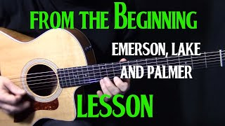 "how to play ""From the Beginning"" on acoustic guitar by Emerson Lake and Palmer_Greg Lake lesson"