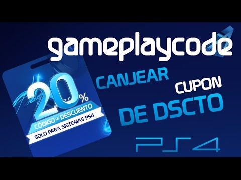 Tutorial GamePlayCode - Como canjear codigo del 20% descuento PSN solo para PS4