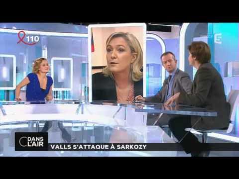 C dans l'air : Valls s'attaque à Sarkozy 27/03/15