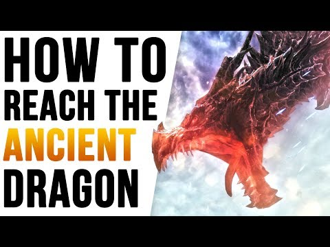Skyrim How to reach Ancient's Ascent Dragon Location!