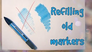 HOW TO - Refilling Non-Refillable Markers