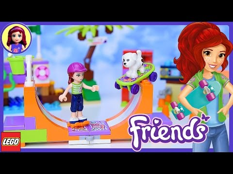 Lego Friends Heartlake Skate Park Build Review And Play - Kids Toys