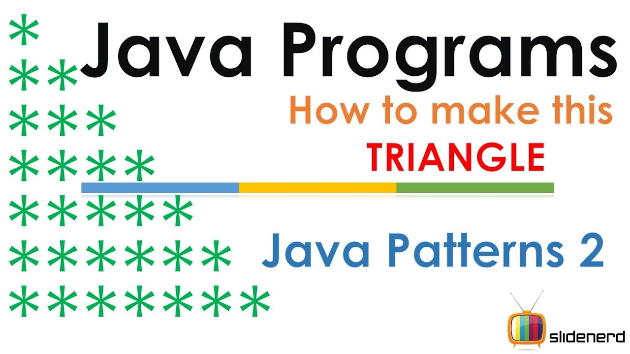 58 java patterns triangle 2 code coursetrocom youtube staircase program image