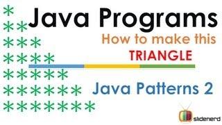 57 Java Patterns Triangle 1 Code |