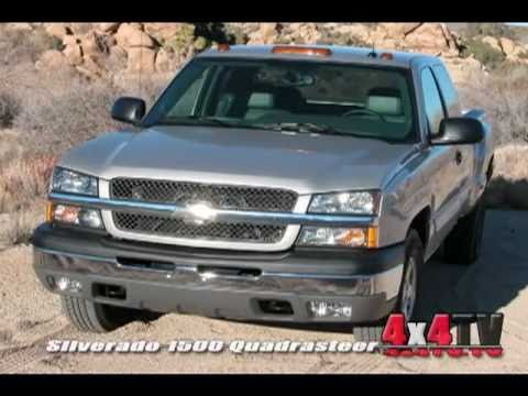 2004 Chevy Silverado Quadrasteer Test - 4x4TV Test Review Videos