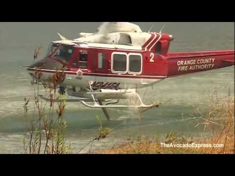 Amazing Firefighting Helicopters in Action California Fires