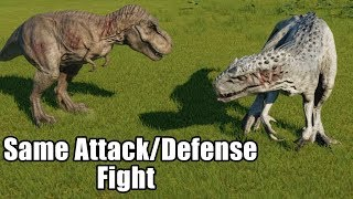 Same Attack/Defense T-Rex VS Indominus Rex - Jurassic World Evolution