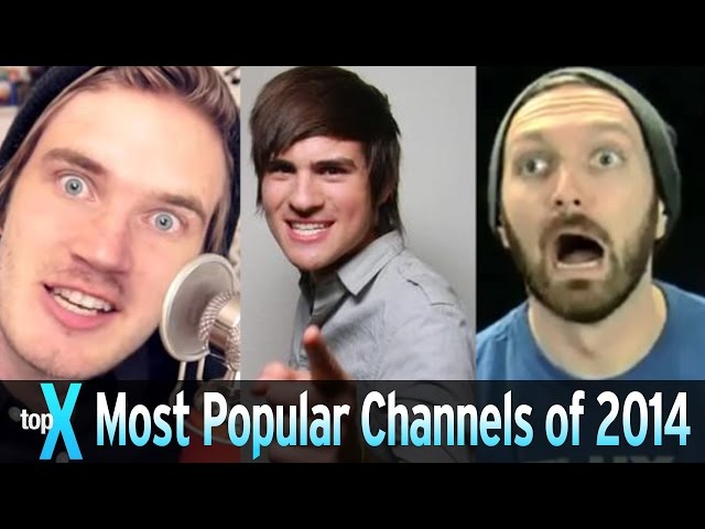 Top 10 Most Popular YouTube Channels of 2014 -  TopX Ep.22