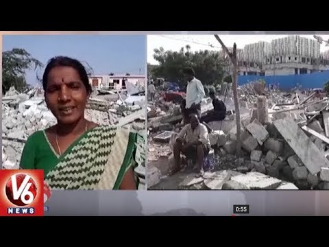 GHMC Officers Started Demolition of Illegal Constructions In Gowlidoddy | Hyderabad | V6 News
