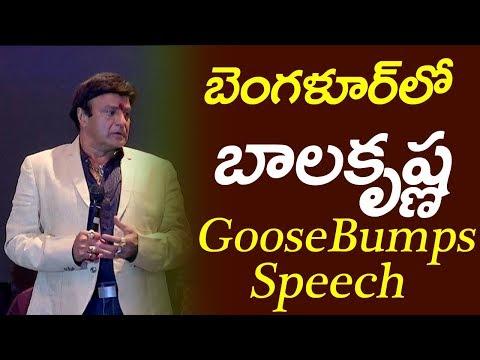 Nandamuri Balakrishna GooseBumps Speech @ NTR Kathanayakudu - Bangalore Pressmeet | Film Jalsa