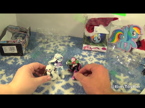 Bin's New Christmas Ornaments! Monster High & My Little Pony Rainbow Dash! Review by Bin's Toy Bin
