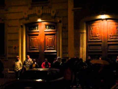 AC Milan fans outside Kaka's place & mine, Jan'09