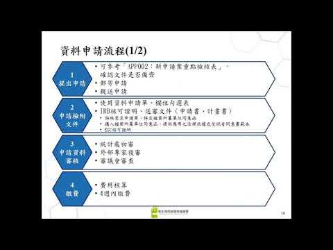 政策應用實例說明及資料使用申請