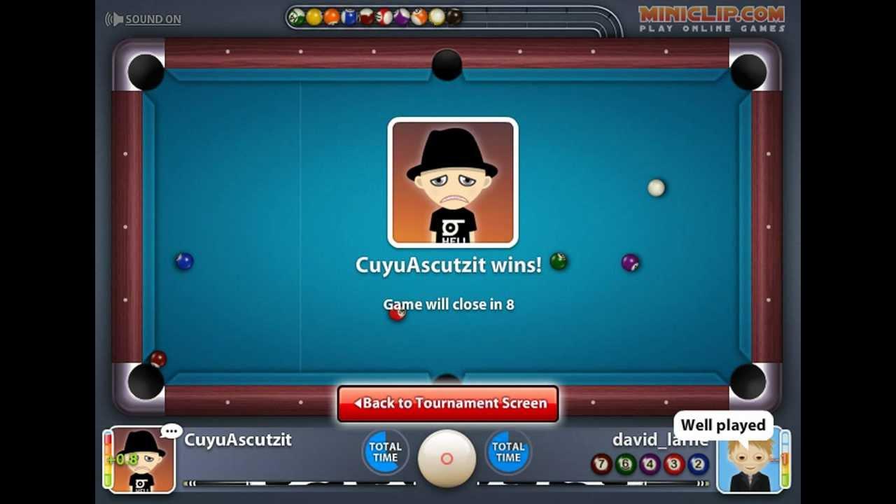 Miniclip 8 ball pool multiplayer awards 100 tournament wins