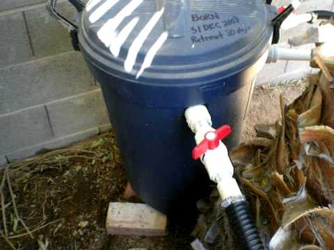 Pond homemade bio filter part 1 how to make do everything for Best homemade pond filter media