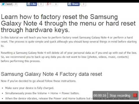 how to factory reset samsung galaxy note 4 or do a hard